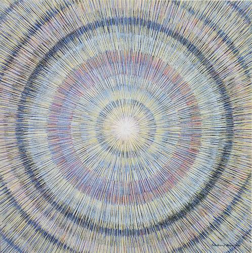 Friedhard Meyer, Meditation 4, Abstraktes, Dekoratives, Gegenwartskunst