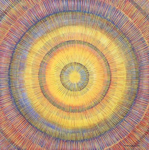 Friedhard Meyer, Meditation 6, Abstraktes, Dekoratives, Gegenwartskunst
