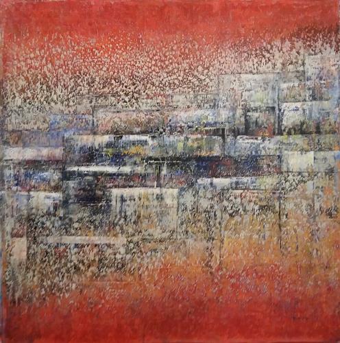 Friedhard Meyer, Terrassen, Architektur, Abstraktes, Gegenwartskunst, Expressionismus