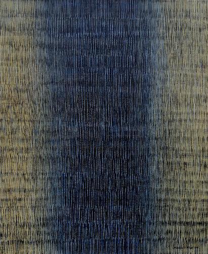 Friedhard Meyer, Farbzone Schwarz-Gelb, Abstraktes, Dekoratives, Gegenwartskunst