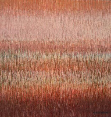 Friedhard Meyer, Farbzone Orange-Braun, Dekoratives, Abstraktes, Gegenwartskunst