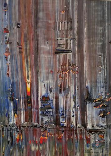 Friedhard Meyer, Hot Spot, Abstraktes, Fantasie, Gegenwartskunst, Abstrakter Expressionismus