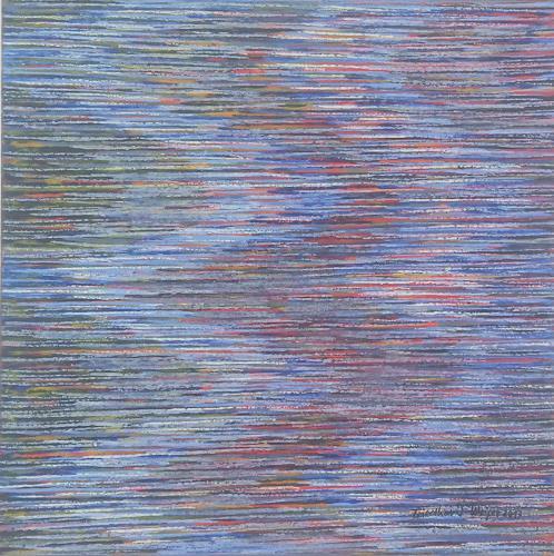 Friedhard Meyer, Strömungen 3, Abstraktes, Fantasie, Konkrete Kunst