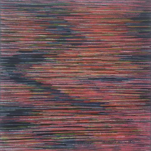 Friedhard Meyer, Strömungen 4, Abstraktes, Fantasie, Konkrete Kunst