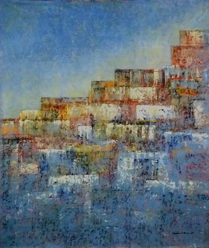 Friedhard Meyer, Hohe Stadt, Abstraktes, Diverse Bauten, Gegenwartskunst