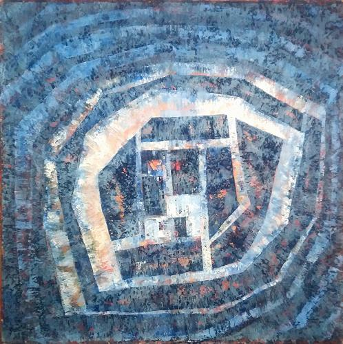 Friedhard Meyer, Blaues Wunder, Abstraktes, Fantasie, Gegenwartskunst, Expressionismus