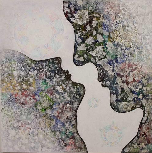Friedhard Meyer, The Kiss, Gefühle: Liebe, Menschen: Paare, Gegenwartskunst