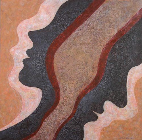 Friedhard Meyer, Janus, Menschen: Paare, Diverse Gefühle, Gegenwartskunst