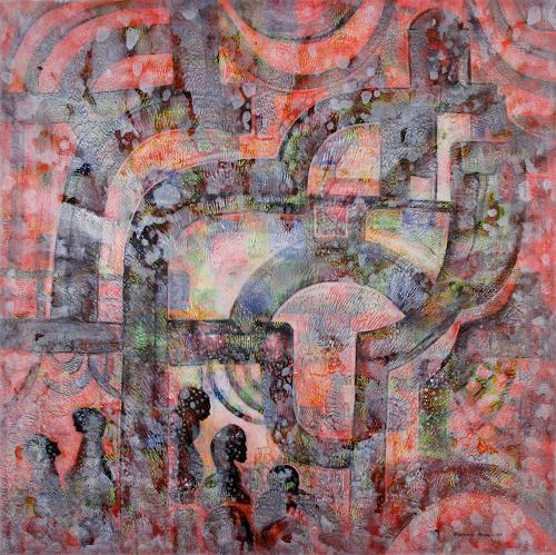 Friedhard Meyer, The Day After, Krieg, Menschen: Gruppe, Gegenwartskunst, Expressionismus