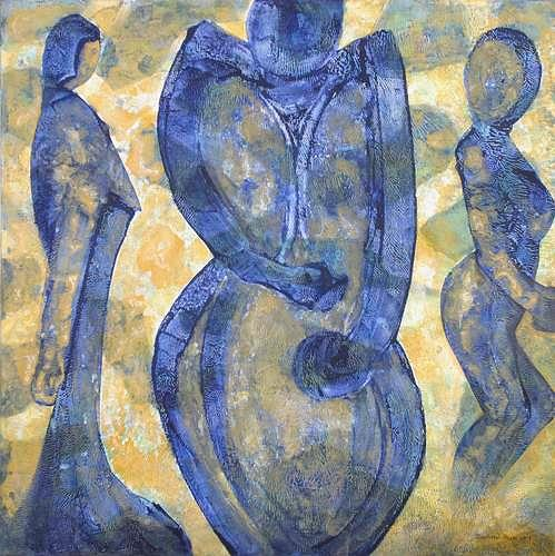 Friedhard Meyer, Despair, Gefühle: Depression, Menschen: Gruppe, Gegenwartskunst, Expressionismus