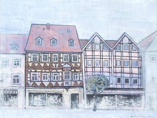 Friedhard Meyer, Fachwerkhäuser am Markt, Diverse Bauten, Poesie, Gegenwartskunst