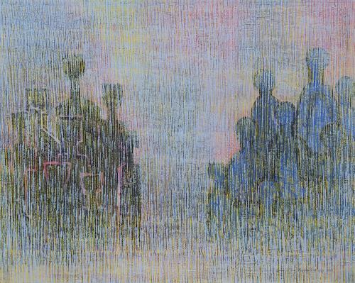 Friedhard Meyer, Begegnung, Menschen: Gruppe, Fantasie, Gegenwartskunst