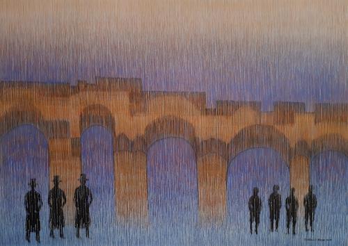 Friedhard Meyer, Die Brücke, Menschen: Gruppe, Fantasie, Gegenwartskunst