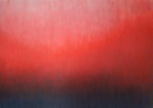 Friedhard Meyer, Mehr Rot, Abstraktes, Fantasie, Gegenwartskunst