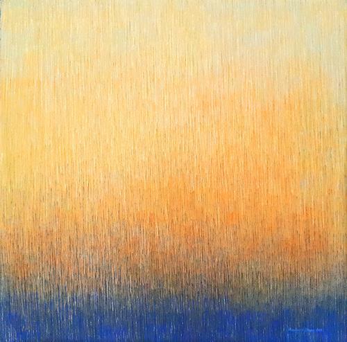 Friedhard Meyer, Farbzone Orange 4, Abstraktes, Fantasie, Gegenwartskunst