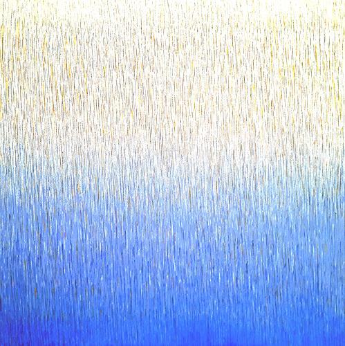 Friedhard Meyer, Farbzone Ultramarin 4, Abstraktes, Fantasie, Gegenwartskunst
