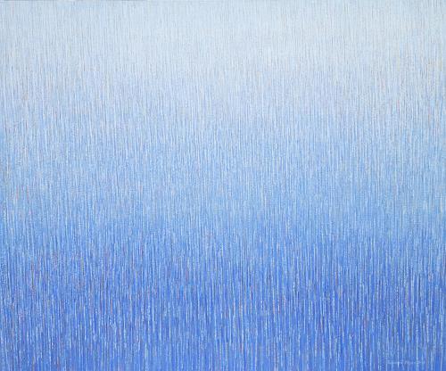 Friedhard Meyer, Farbzone Ultramarin 5, Abstraktes, Fantasie, Gegenwartskunst