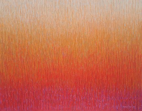 Friedhard Meyer, Zinnober 2, Abstraktes, Fantasie, Gegenwartskunst