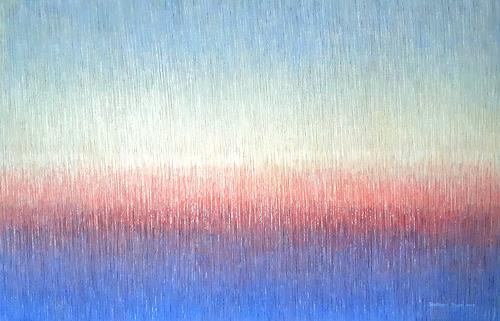 Friedhard Meyer, Von Blau nach Blau, Abstraktes, Fantasie, Gegenwartskunst