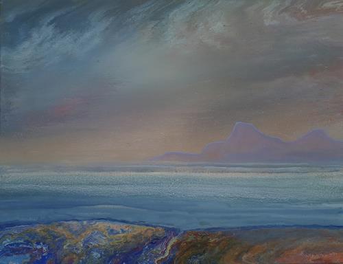 Friedhard Meyer, Küstenlandschaft 3, Landschaft: See/Meer, Fantasie, Gegenwartskunst