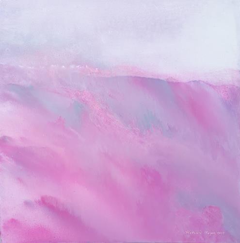 Friedhard Meyer, Rote Landschaft, Landschaft: Berge, Fantasie, Gegenwartskunst, Expressionismus