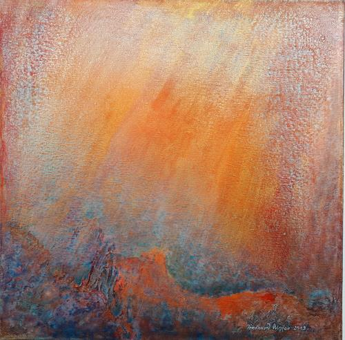 Friedhard Meyer, Rot-Orange 2, Abstraktes, Fantasie, Gegenwartskunst