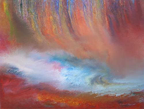 Friedhard Meyer, Schnelles Wasser, Diverse Landschaften, Fantasie, Gegenwartskunst, Expressionismus
