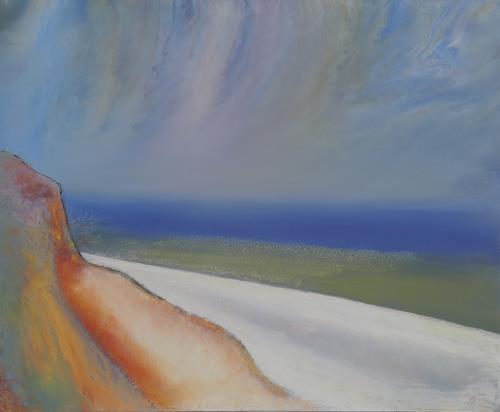 Friedhard Meyer, Hiddensee-Steilküste, Landschaft: See/Meer, Diverse Landschaften, Gegenwartskunst