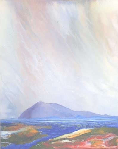 Friedhard Meyer, Monsterberg, Landschaft: Berge, Fantasie, Gegenwartskunst