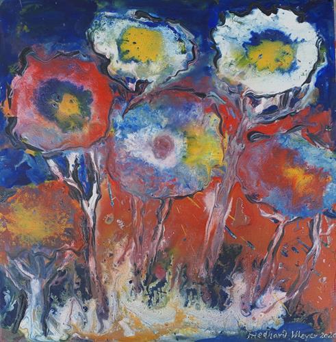 Friedhard Meyer, Wilde Blumen, Pflanzen: Blumen, Diverse Pflanzen, Gegenwartskunst