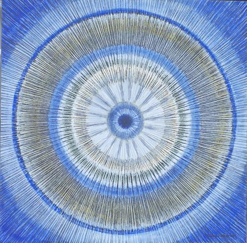 Friedhard Meyer, Mandala 1, Abstraktes, Fantasie, Gegenwartskunst