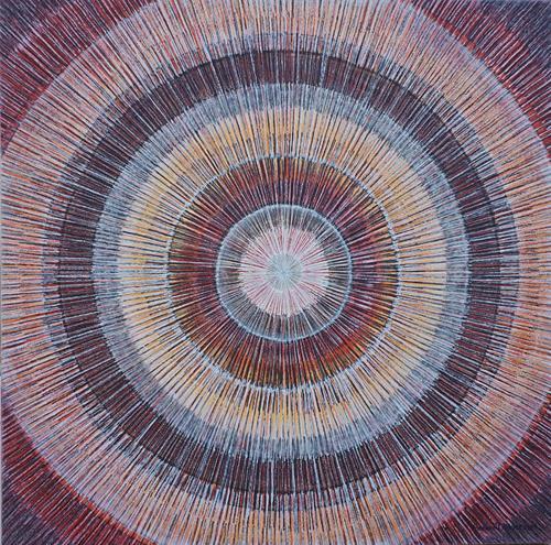 Friedhard Meyer, Mandala 2, Abstraktes, Fantasie, Gegenwartskunst