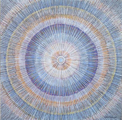 Friedhard Meyer, Mandala 3, Abstraktes, Fantasie, Gegenwartskunst