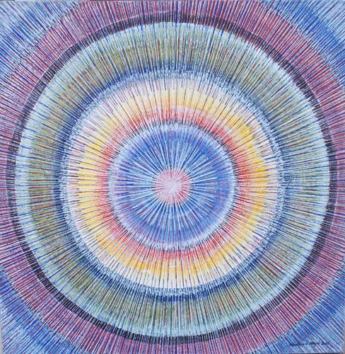 Friedhard Meyer, Mandala 4, Abstraktes, Fantasie, Gegenwartskunst