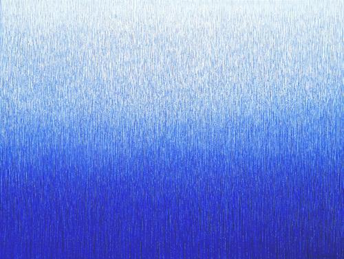 Friedhard Meyer, Farbzone Ulramarin 12, Abstraktes, Dekoratives, Gegenwartskunst, Expressionismus