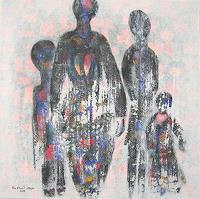 Friedhard-Meyer-Menschen-Gruppe-Menschen-Familie-Gegenwartskunst--Gegenwartskunst-