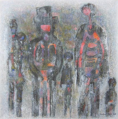 Friedhard Meyer, Familie, Menschen: Familie, Menschen: Gruppe, Gegenwartskunst, Abstrakter Expressionismus