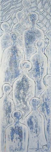 Friedhard Meyer, Warten 1, Die Zwölf Apostel, Menschen: Gruppe, Religion, Gegenwartskunst