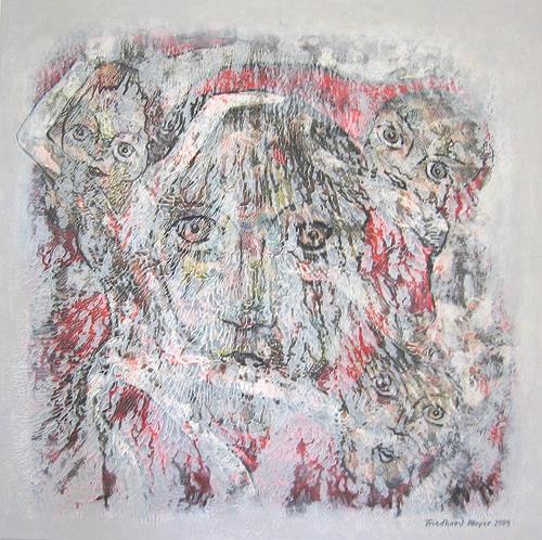 Friedhard Meyer, Die Geister, die ich rief, Menschen: Gesichter, Gefühle: Horror, Gegenwartskunst