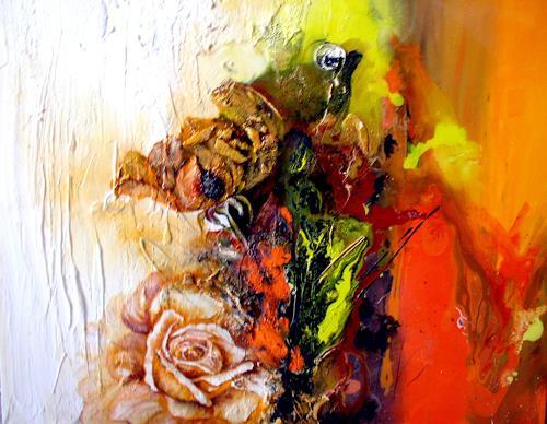 Rosa meister kunst pflanzen blumen abstraktes gegenwartskunst