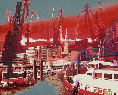 Meike Kohls, Hamburg Baumwall, Wohnen: Stadt, Landschaft: See/Meer, Pop-Art, Abstrakter Expressionismus