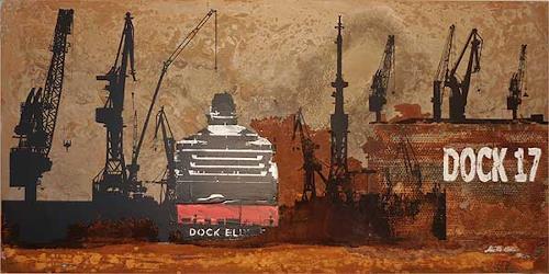 Meike Kohls, Dock 17, Industrie, Landschaft: See/Meer, Neuzeit, Expressionismus