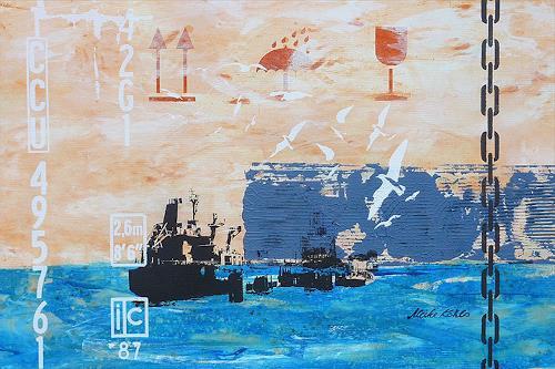 Meike Kohls, Tankschiff  - Tanker, Industrie, Landschaft: See/Meer, Pop-Art, Expressionismus