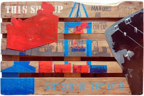 Meike Kohls, Europalette Container Terminal, Verkehr: Schiff, Landschaft: See/Meer, Pop-Art