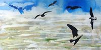 Meike-Kohls-Landschaft-See-Meer-Natur-Luft-Moderne-Pop-Art