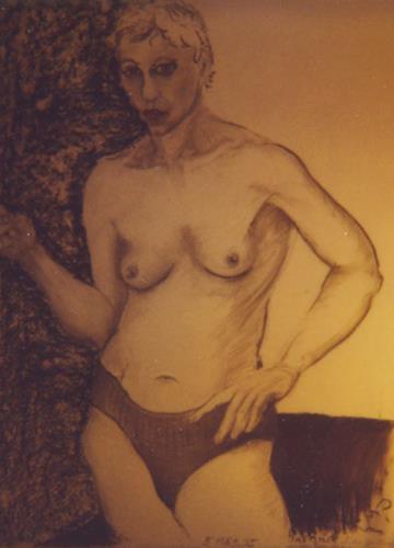 Gautam, M. rauchend, Akt/Erotik: Akt Frau, Realismus