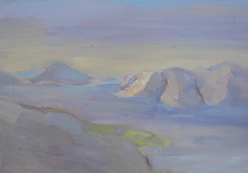 Christophorus Hardenbicker, Blick auf Fourni 2014, Landschaft: See/Meer, Impressionismus, Expressionismus