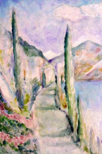 Christophorus Hardenbicker, Gardasee 2000, Landschaft: See/Meer, Impressionismus