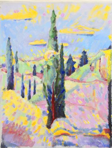 Christophorus Hardenbicker, Samos-Garten 2015, Landschaft, Impressionismus