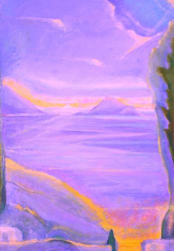 Christophorus Hardenbicker, Samiopoula Sept.2015, Landschaft, Impressionismus, Expressionismus